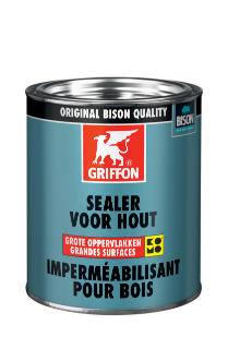 Griffon Sealer for Wood Large Surfaces White Tin 750 ml NL/FR
